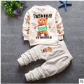 Fashion 2016 baby suit point cotton cartoon clothing children's clothing suit boy (pants + coat) baby clothing multi-color