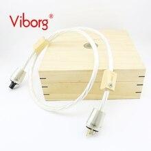Envío gratis Viborg Nordost ODIN 2 suprema referencia cable de alimentación con el Oro plateado versión EE. UU. enchufe de conexión