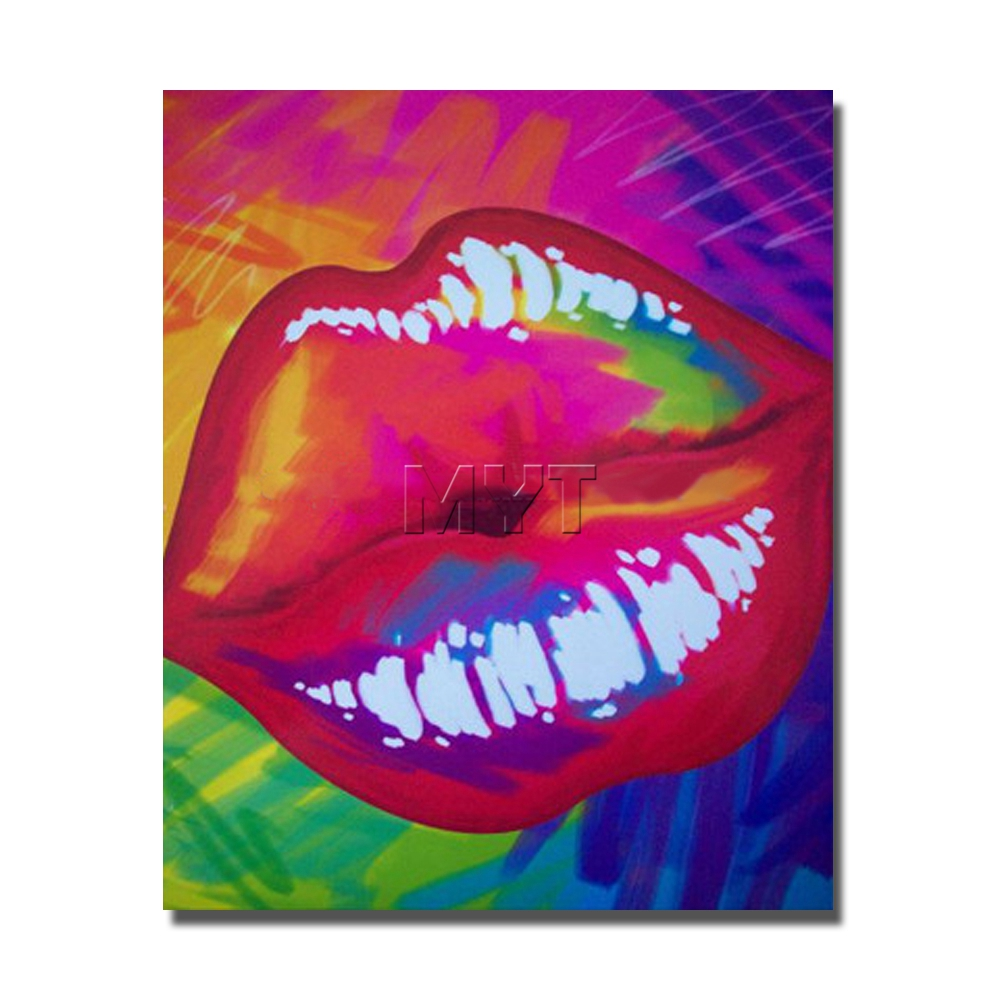 The Sexy Red Lip Painting Wall Art Home Decoration Home