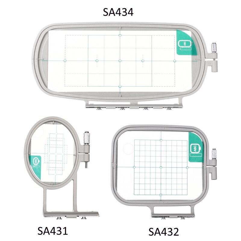 Stickerei Hoop Rahmen Set für Brother PE-500 PE-400D ER-240 LB-6700 Innov-ist 955 950D 500D, babylock, 3in1-A Nähen Maschine
