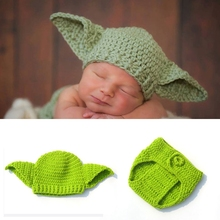 Knitted Hat Outfit Bodysuits Photography-Props Yoda-Costume Baby Star-Wars Handmade Newborn
