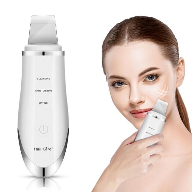 Skin Scrubber Ultrasonic Face Skin Scrubber Facial Cleaner Peeling Vibration Blackhead Removal Exfoliating Pore Cleaner Tools