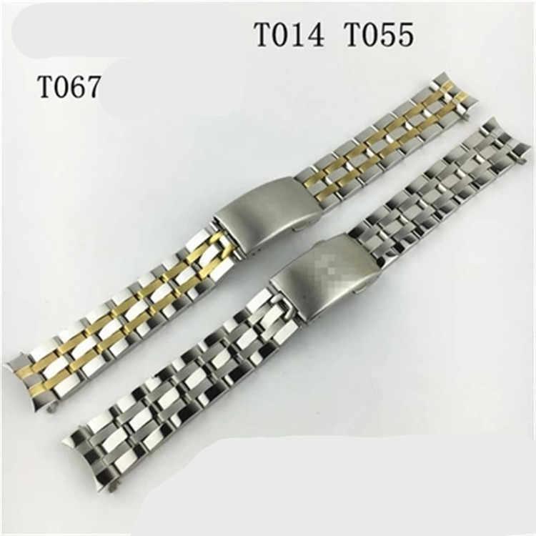 Fortsfor 17/t014 固体ステンレス鋼ストラップユニバーサルアーク鋼ストラップ男性のブレスレット在庫