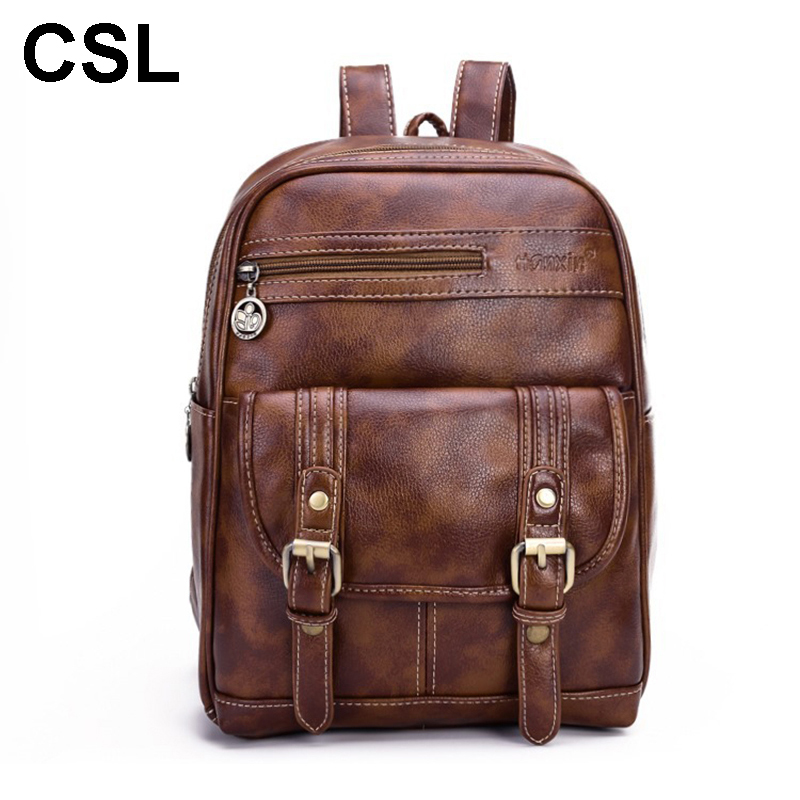 Hot women leather backpack brand retro shoulder anti-fat backpack High quality PU leather Large capacity school bags for girls  цена и фото