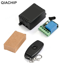 QIACHP 433Mhz Universal Wireless Remote Control Switch DC 12V 1CH Relay Receiver Module + RF Transmitter 433 Mhz Remote Controls