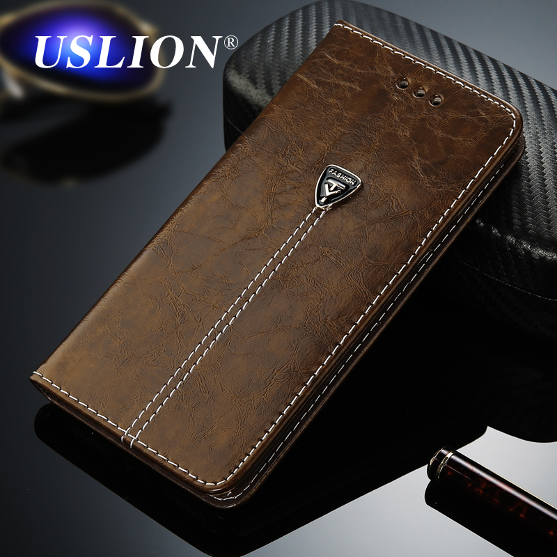 USLION Luxury Flip Leather Phone Case For iPhone 7 5 5s SE 6 6 Plus Wallet Card Slots Cases Cover For iPhone X XS Max XR 8 Plus(China)