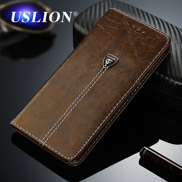 3a38418f7b44 USLION Luxury Flip Leather Phone Case For iPhone 7 5 5s SE 6 6 Plus Wallet  Card Slots Cases Cover For iPhone X XS Max XR 8 Plus