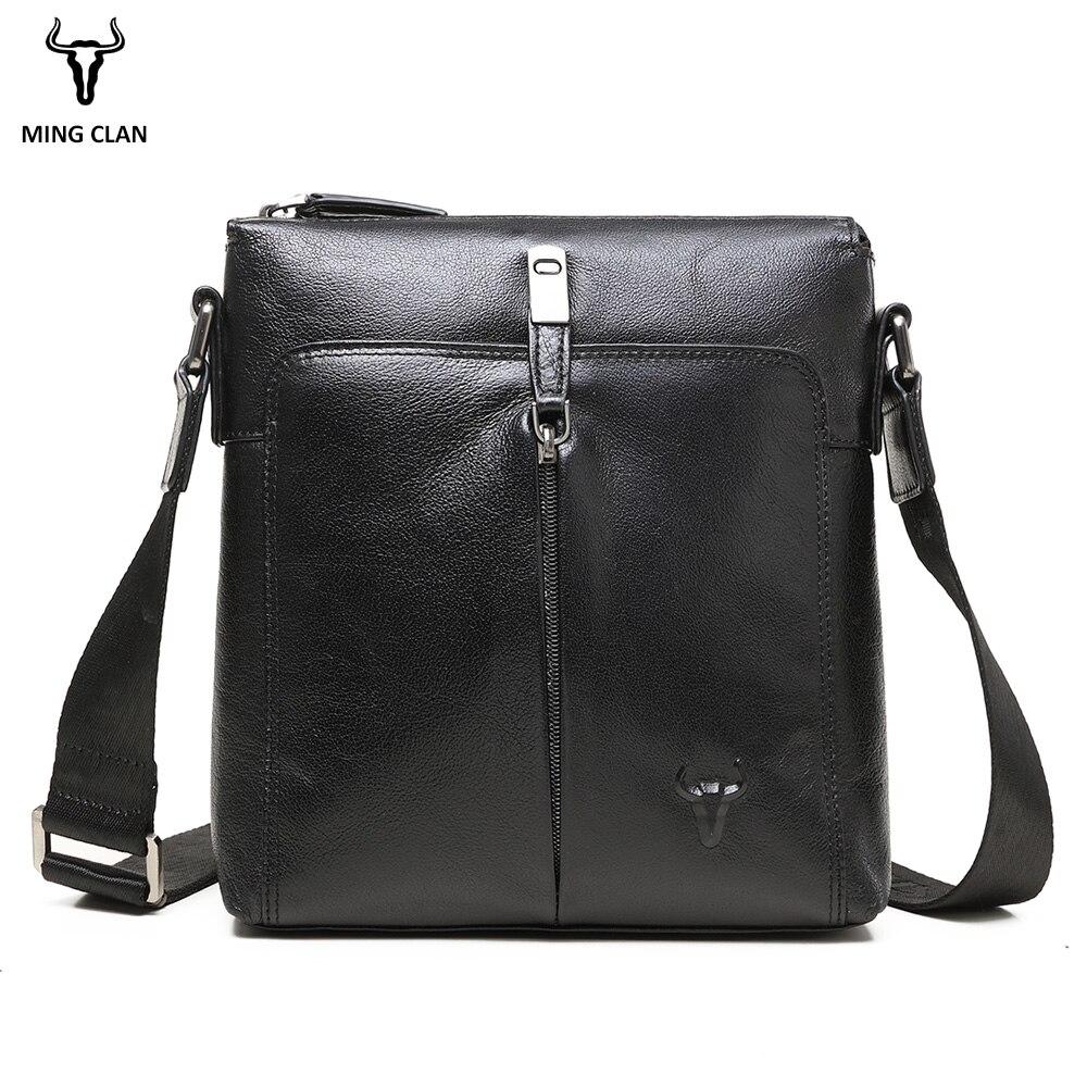 Koeienhuid Lederen Schoudertas Luxe Cross Body Bags Veelzijdige Lederen Tas Mannen Zakelijke Zwarte Messenger Bag Mannen Lederen