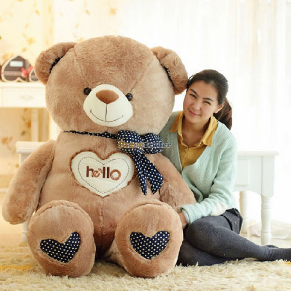 Fancytrader 59'' / 150 cm Biggest Giant Love Heart Plush Stuffed Bear Free Shipping, birthday and Valentines 2 Colors FT90099 fancytrader 39 100cm giant plush lovely rubber duck cute birthday present gift and decoration free shipping ft50007