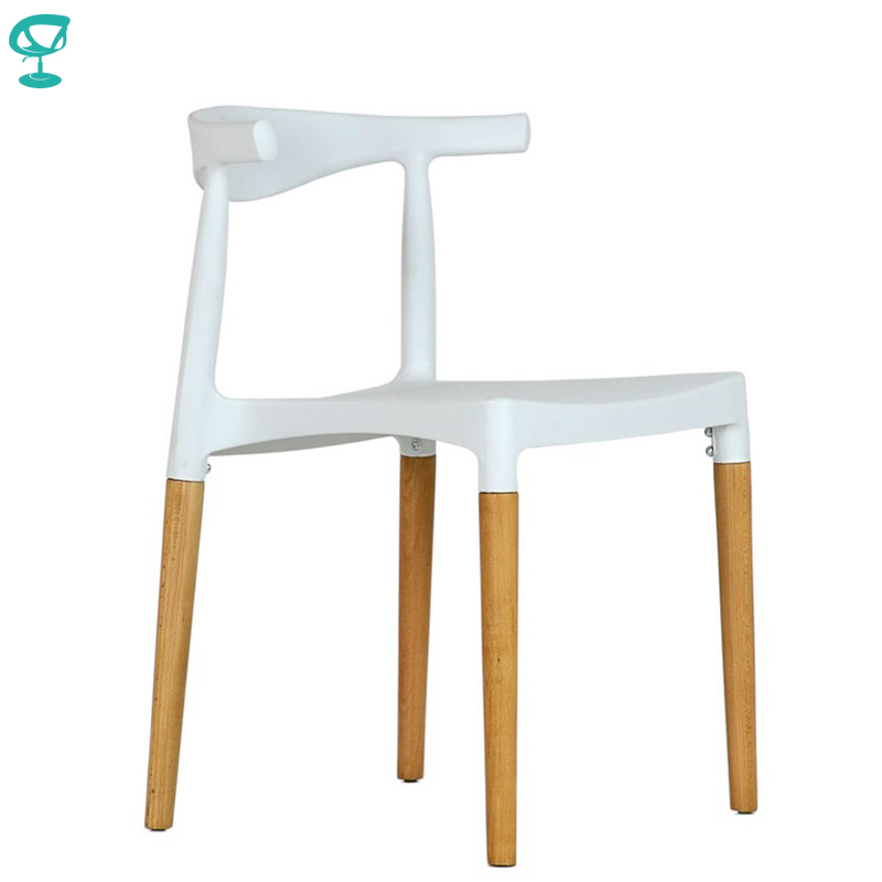 95427 Barneo N-219 Plastic Wood Kitchen Breakfast Interior Stool Bar Chair Kitchen Furniture White Free Shipping In Russia