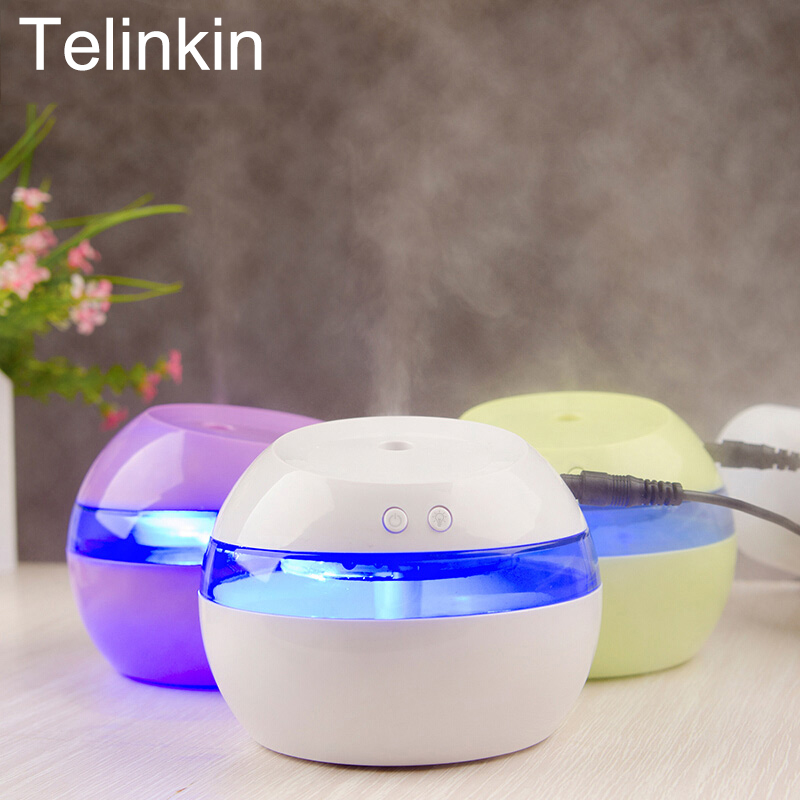 Telinkin USB 5V Air Aromatherapy Humidifier Ultrasonic Electric Aromatherapy Essential Oil Aroma Diffuser with Color LED Light