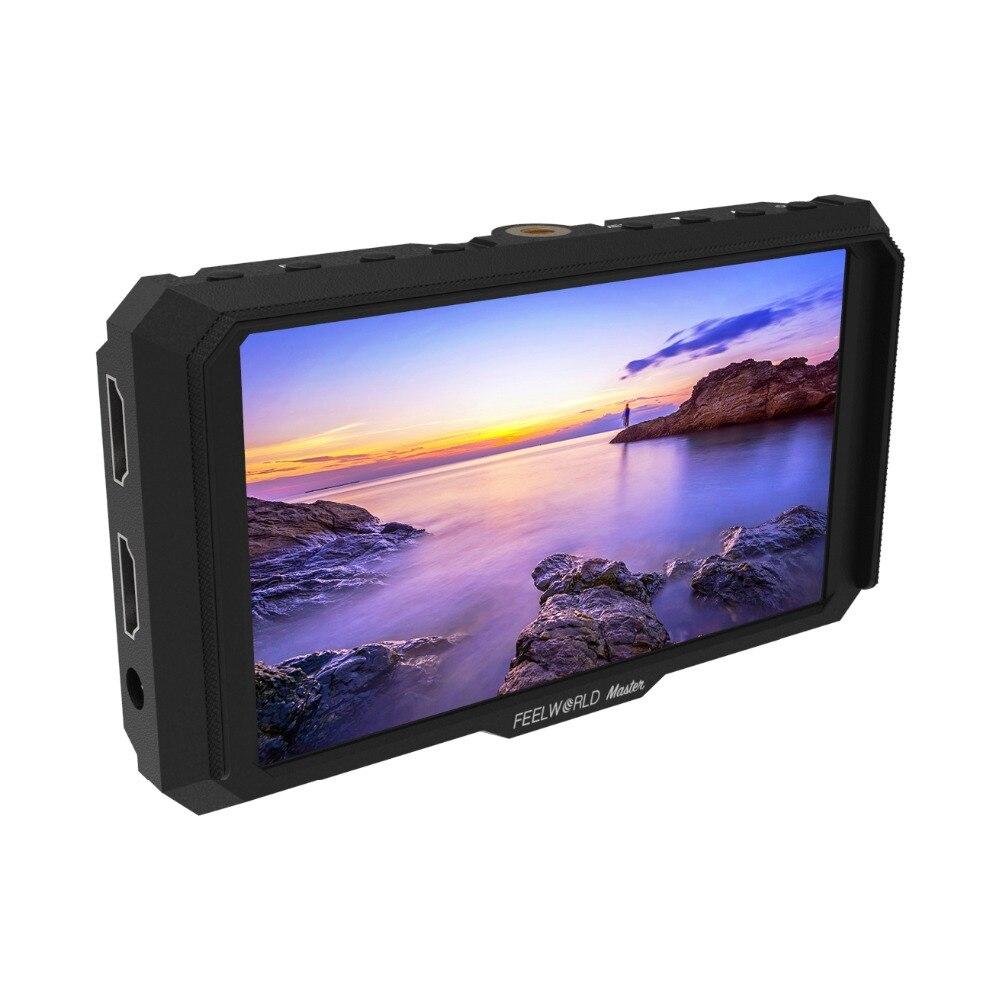 Feelworld Maître MA5 2018 Nouveau Sur-Caméra Champ Moniteur 5 pouce Full HD 4 k HDMI Dans/Sortie DC 8.4 v Puissance de Sortie pour Appareils Photo REFLEX