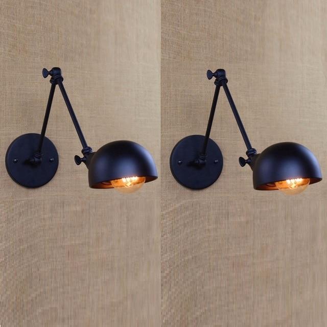 adjustable lighting fixtures. 2pcs Vintage Wall Lamp Lights Adjustable Loft Sconce Lighting Fixtures For Bedside Corridor Library Living Room O