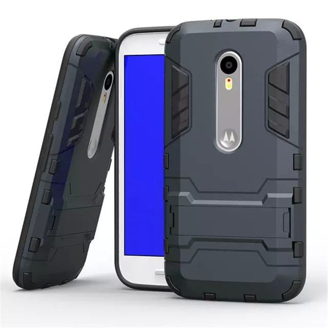 new styles 5ce8b 7c466 US $4.07 |For Capa Moto G 3 Hybrid 2 in 1 Defender Armor Kickstand Rugged  Shockproof Case For Motorola Moto G3 G 3rd Gen Case XT1540 Funda on ...