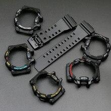Черный резиновый ремешок чехол для объектива с оптическими зумом Casio G SHOCK GA 400 GBA 401 мужские спортивные водонепроницаемые часы с аксессуарами pin ботинки до середины икры с пряжкой на ремешке