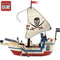 Enlamten 188 шт. пираты из Карибского моря, кирпичи, пиратский корабль, город, LegoINGs, строительные блоки, наборы, развивающие игрушки для детей