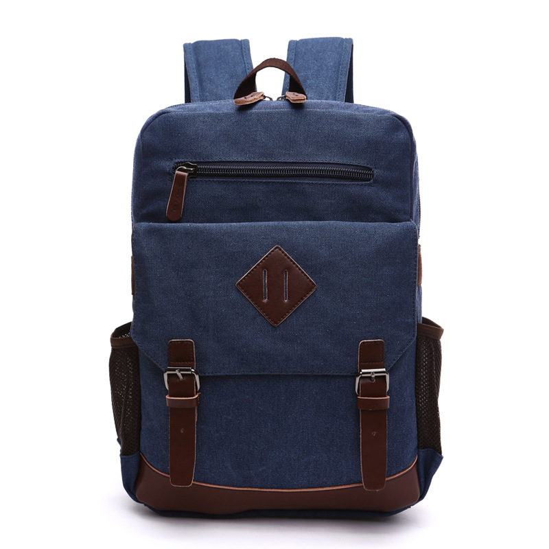 Canvas Backpack Fashion College Student Bag For Teenagers Male Laptop Mochila Casual Travel Rucksacks Women Back Pack Bolsos