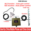 work in bad signal area 900mhz booster IGC+ALC GSM booster gain 65dbi GSM repeater,phone repeater w/ antenna 15M cable