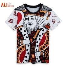Las mujeres de los hombres jugando a las cartas impresión 3d T Camisa  Harajuku estilo de verano camiseta Hip Hop ropa Camisa Mas. 5a066f23b0f