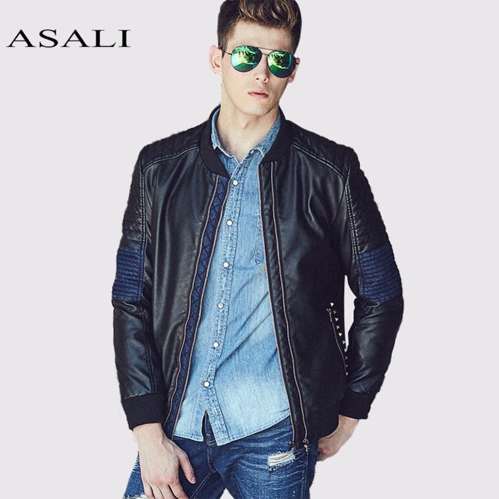 ASALI Leather Jackets Men Motorcycle PU 2018 Men Faux Leather Jacket Overcoats Business For Men Winter Jaquetas de motocicleta