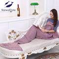 Yarn Knitted Blankets Mermaid Tail Blanket Super Soft Sleeping Bed Handmade Crochet Anti-Pilling Portable Blanket For Autum
