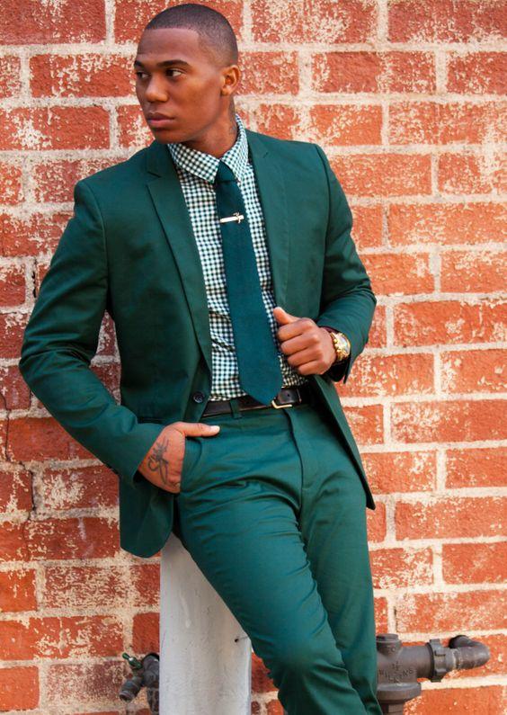 Anzüge & Blazer Hohe Qualität Dunkelgrün Herren Anzüge Bräutigam Smoking Groomsmen Hochzeit Abendessen Best Man Anzüge jacke + Pants
