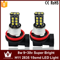 Night Lord 1pcs/lot H11 LED fog lamp Canbus  fog light 9~30V 15LED 2835chip auto car foglight headlight Nonpolarity