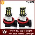 Night Lord 1pcs/lot H11 LED fog lamp Canbus  fog light 9~30V 15LED 2835chip auto car foglight headlight Nonpolarity