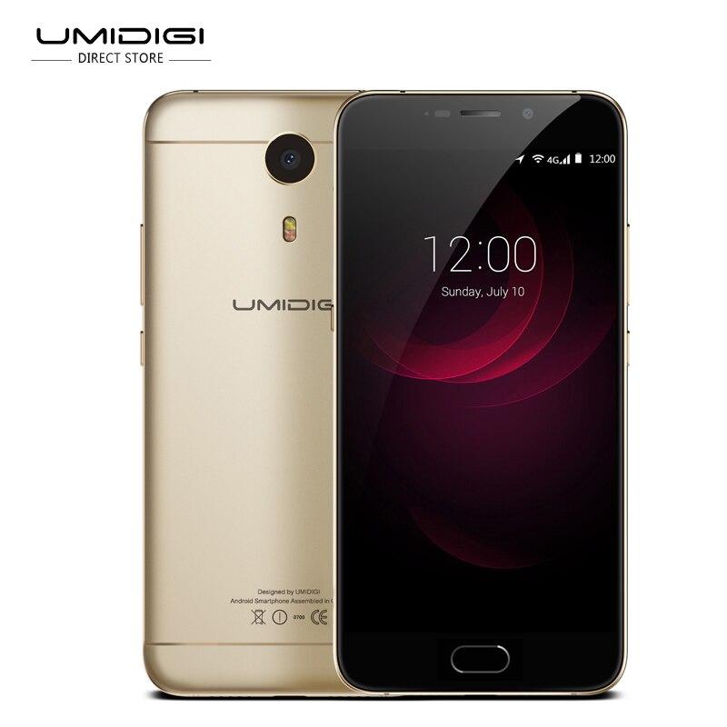 bilder für UMIdigi Plus 5,5 'FHD 4G LTE 4000 mAh MTK6755 Helio P10 Octa-core Android 6.0 4 GB 32 GB OTG 13MP Fingerabdruck Handy fasten schiff
