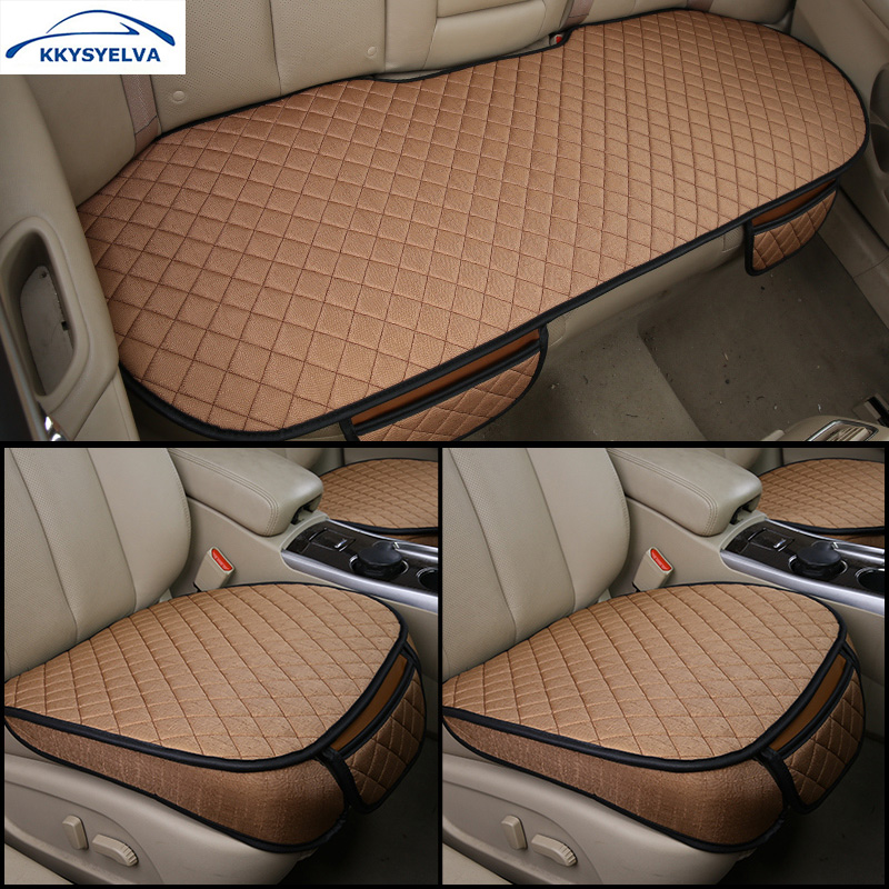 KKYSYELVA Car Seat Covers Set Universal Vehicles Seat Pad Protector Anti Skid Driving Cushion Car styling