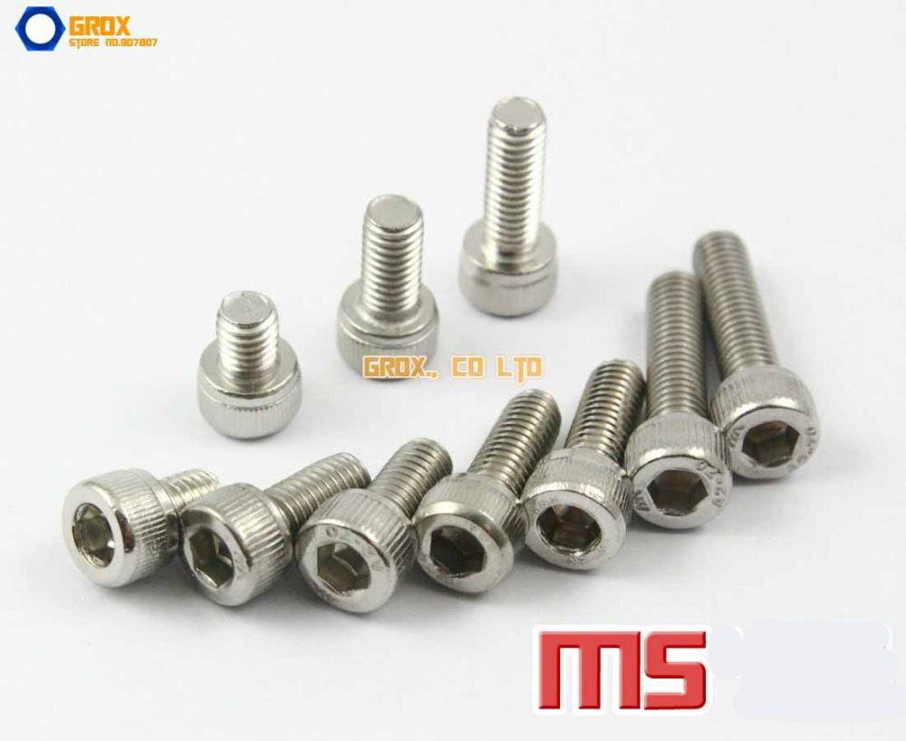 M5 304 Stainless Steel Allen Bolt Socket Cap Screws Hex Head DIN 912 m3 screws low profile cap screws socket head hex bolt stainless steel metric fastener