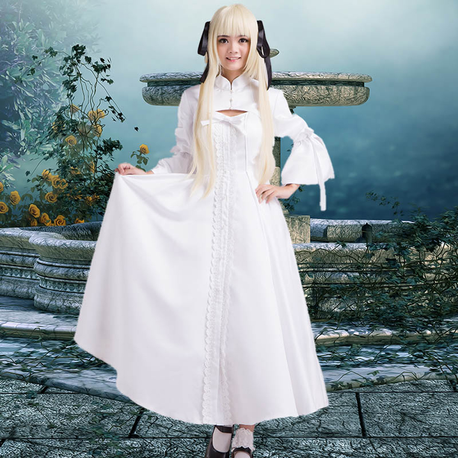Anime sora&Haruka Kasugano cosplay Costumes sora dress for adults Ladies lolita Costume Evening party white dresses