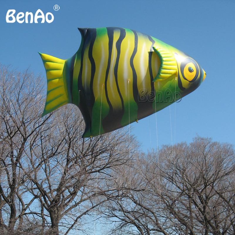 AO482 Inflatable flying helium fish,giant inflatable colorful fish goldfish flying balloon, inflatable animal fish for event