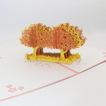 Postcard Invitation Blossoms-Tree-Paper Greeting-Cards Gift Handmade 3D Cherry Valentine's-Day