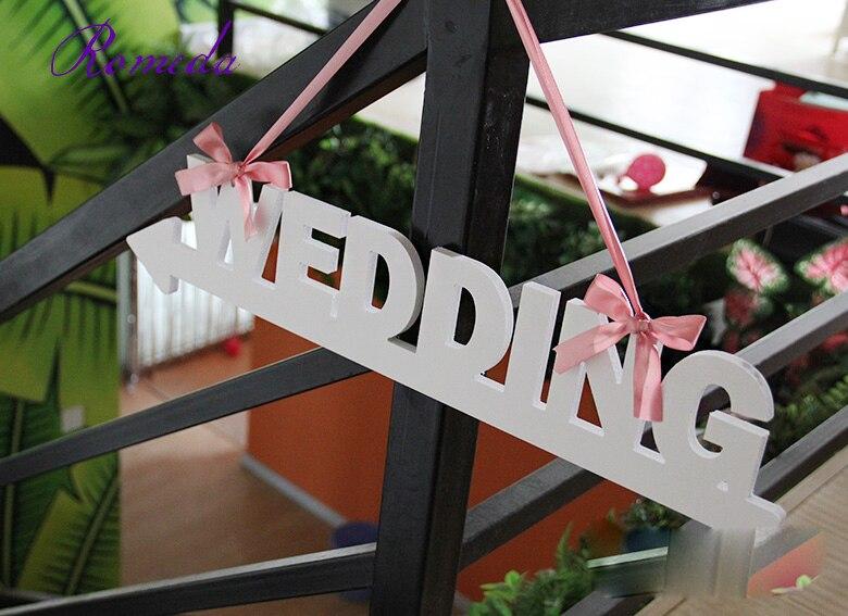 Бесплатная доставка свадебные указатель Свадебные буквы баннер для фотосессий знак белые свадебные Стрелка Дорожный привести