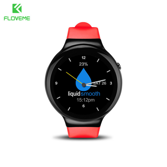 Floveme smart watch android os 5.1 наручные часы bluetooth mtk6580 1.3 quad-core amoled дисплей 3 г sim-карты 1 г + 16 г wi-fi smartwatch