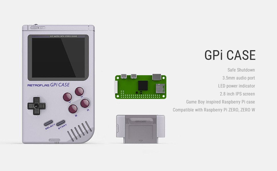 US $7 99 |In Stock! Retroflag GPi CASE for Raspberry Pi Zero and Zero W  with Safe Shutdown-in Cases from Consumer Electronics on Aliexpress com |