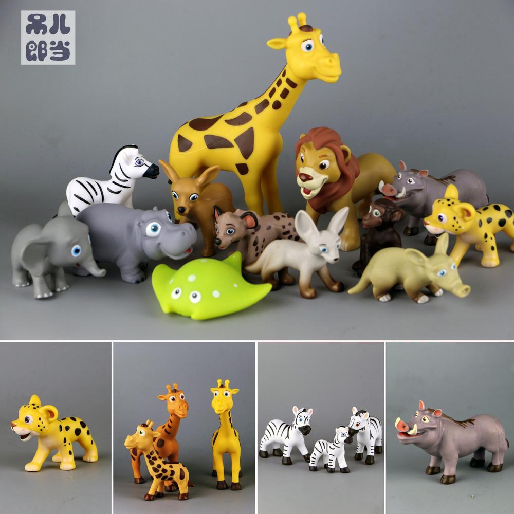 Figure mignon animal sauvage jouet modèle girafe chien sauvage comme lion crocodile cerf 25 pièces/ensemble