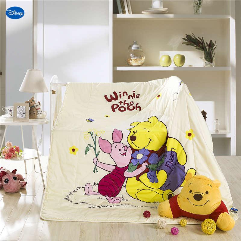 Disney Winnie l'ourson couette été couette literie coton tissu couverture de lit 3D imprime dessin animé chambre décor enfants garçon enfant