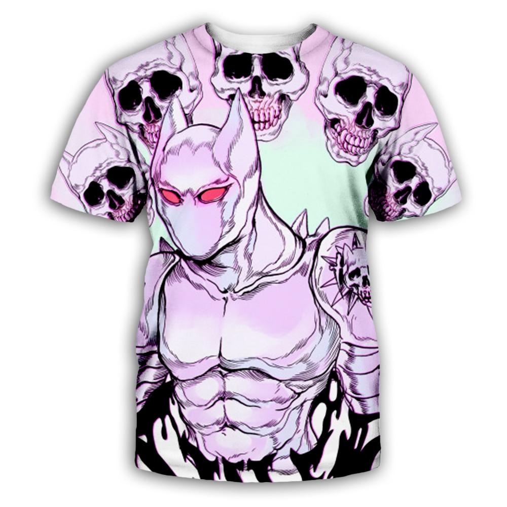 New anime Jojolion 3D Print Hoodies harajuku Skull short sleeve shirts JoJo 39 s Bizarre Adventure Sweatshirts Hooded Tracksuits in Hoodies amp Sweatshirts from Men 39 s Clothing