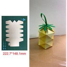 3d лепесток ананаса коробка металлическая прорезной трафарет