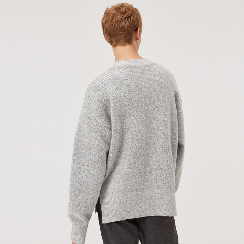 Markless V-neck Knitted Sweaters Men 2018 Autumn Pullover Men Sweater sueter hombre Fashion Loose pull homme MSA8706M
