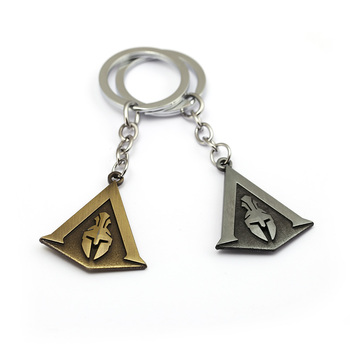 Assassins Creed Keychain Odyssey New Game assassin's Key Chain Key Holder Porte Clef Llaveros Hombre