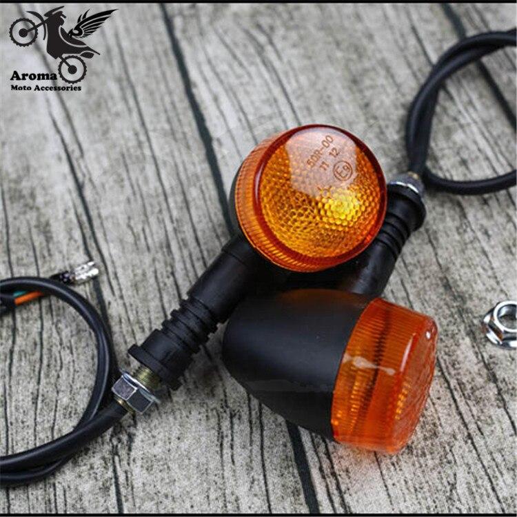 retro black orange blinker scooter indicator motorbike flashers for harley vintage motorcycle turn signal light lamp amber moto