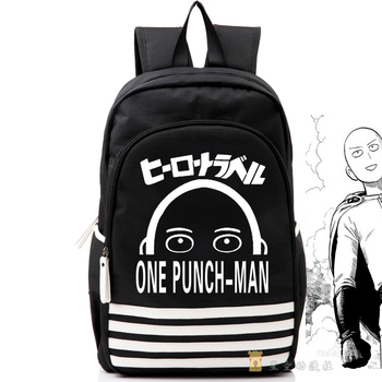 Anime ONE PUNCH-MAN Cosplay Canvas Student Backpack Cartoon Men and Women Travel Computer Backpack 1