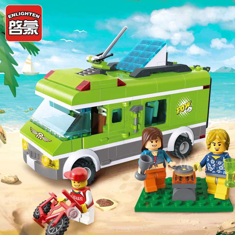 Enlighten building blocks toys for children City police series Pleasant Trip car-styling 380pcs Compatible all brand bricks 2017 enlighten city series garbage truck car building block sets bricks toys gift for children compatible with lepin