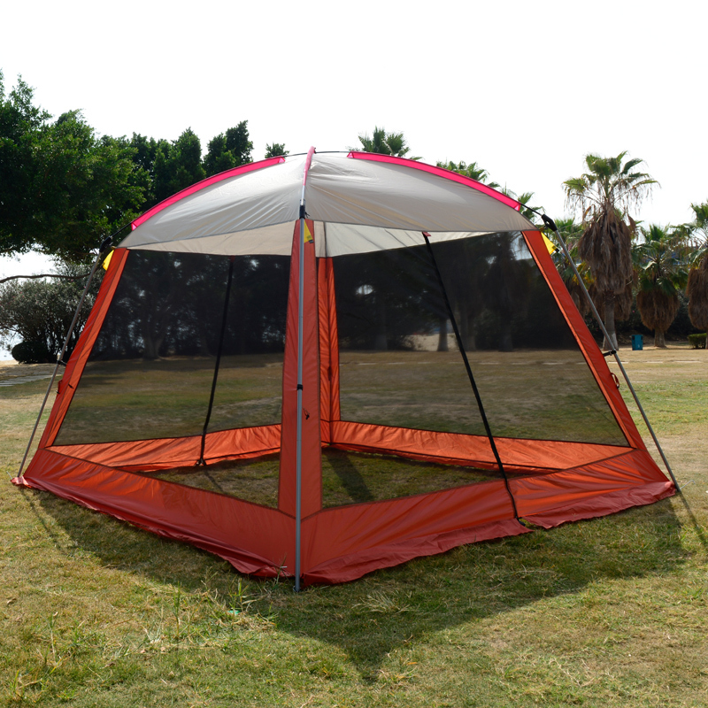 Free shipping double layer awning beach tent sun shelter gazebot UV protection sunshade camping tent  without floor mat 4 1 5m sun shelter sunshade camouflage tent outdoor waterproof awning sun shelter sunshade camping mat for picnic t15 0 5