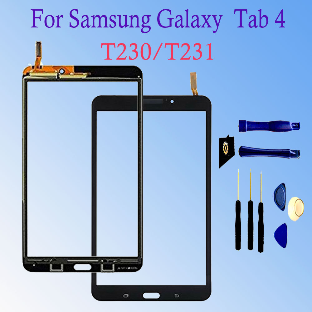 New For Samsung Galaxy Tab 4 7.0 SM-T230 SM-T231 Tab 3 T210 T211 Touch Screen Digitizer Glass Sensor Panel Tablet PC Replacement