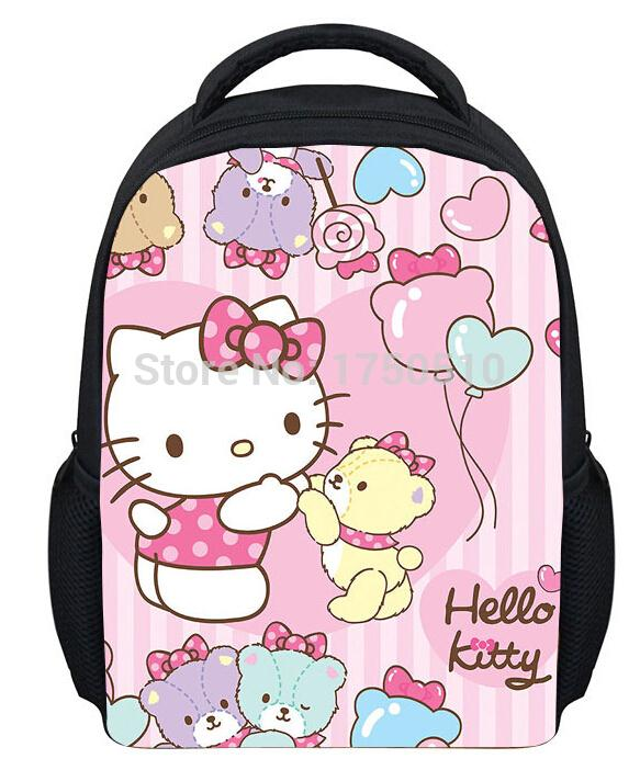 fashion cartoon cat print school bags for girlshello