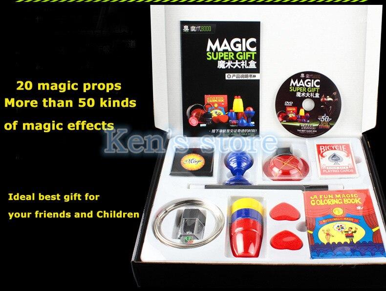 50 sortes de jeu de magie avec DVD enseignement des tours de magie professionnels scène gros plan Prop magique Gimick cartes enfant Puzzle jouet - 5